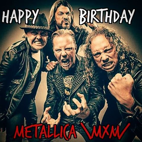 Metallica Birthdayd Pictures