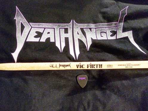 Souvenirs from Death Angel show at BCB